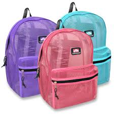 wholesale trailmaker 17 inch mesh backpack bags in bulk