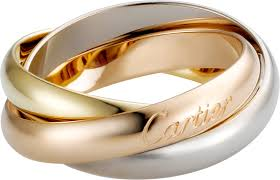 cartier rings images Crb4052700 trinity ring classic white gold yellow gold pink png