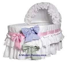 burlington baby burlington baby bassinet liner with 3 colored ribbons