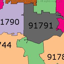 west covina ca map west covina california zip code boundary map ca