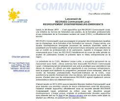 bureau virtuel commission scolaire laval recrues communauté laval est lancé chambre de commerce et d