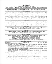 Resume Examples For Cosmetology by Cosmetology Resume Template 5 Free Word Pdf Documents Download