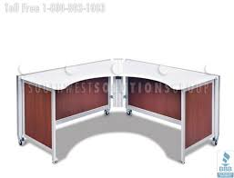 Portable Reception Desk Mobile Office Workstations U0026 Benching Systems Portable Cubicles