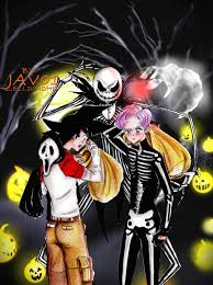 anime happy halloween goten trunks and jack happy halloween by zelldinchit on deviantart