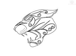 tribal jaguar design tattoos