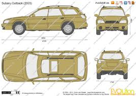 subaru 2004 outback the blueprints com vector drawing subaru outback