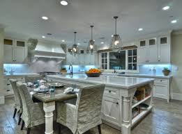 beautiful kitchen island and table i did a or something like this