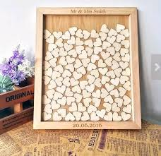 vintage guest book aliexpress buy wooden unique wedding favors sign custom drop