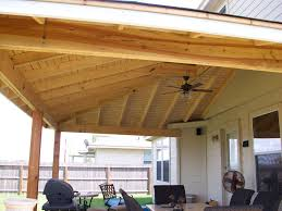 Outdoor Patio Cover Designs Patio Cover With Open Rafter Comp Roof And Facia To Match Home