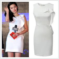 elegant ladies white 50s formal party dresses office 2015 cute