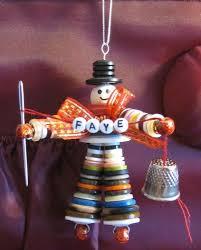button man christmas tree ornament personalized bonny on artfire