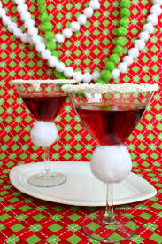 christmas cocktails recipes santa hat martini pomegranate martini oh my creative
