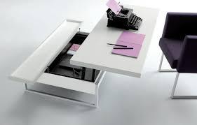 bureau relevable salle de séjour table basse relevable idee originale bureau table