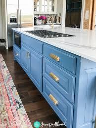 blue kitchen island cabinets my new blue kitchen island kitchen remodel allwood