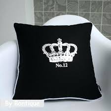 Black Decorative Pillow Sdecorative S Extra Black Throw