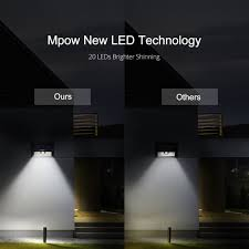 mpow solar light instructions 20 led solar lights bright outdoor security lights with motion