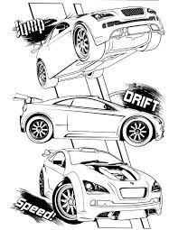 coloring pages drifting cars wheels coloring page мади