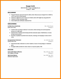 Home Health Aide Sample Resume by 10 Home Care Resume Sample Sick Leave Letter