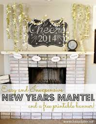Happy New Year Room Decoration by New Years Decor Ideas And A Free Printable Banner Parties
