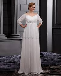 plus size wedding dress empire waist discount evening dresses