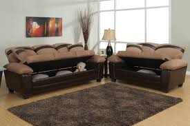 Discount Sofas In Los Angeles Gabe Beige Leather Sofa And Loveseat Set With Storage Steal A