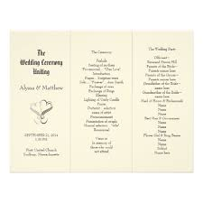 program paper 42 best tri fold wedding programs images on marriage tri