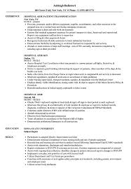 hospital resume exles hospital aide resume sles velvet