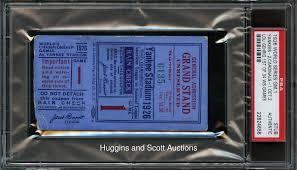 1926 world series game 1 yankee stadium ticket stub from gehrig u0027s