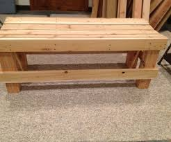 Outdoor Wooden Bench Plans To Build by Simple Bench 7 Steps With Pictures