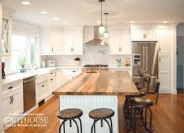 Wood Tops For Kitchen Islands Reclaimed Chestnut Kitchen Island Counter With A 1 8 Roundover On