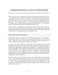 sample pharmaceutical sales resume cover letter international