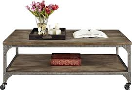 Wood Coffee Table Rustic Ameriwood Home Cecil Wood Veneer Coffee Table Rustic