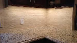 KITCHEN Backsplash Linear Travertine Mosaic Contemporary - Travertine mosaic tile backsplash