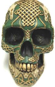 Celtic Skull - amazon com celtic knotwork human skull bank piggy