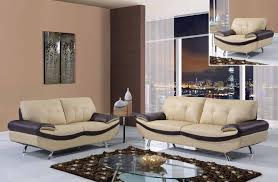 cappuccino and chocolate 3 piece bonded leather sofa set gfm123