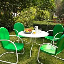 green metal outdoor table green metal patio chairs portia double day wicker metal patio