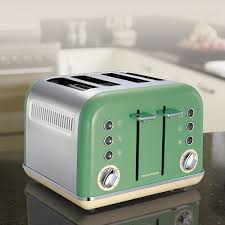 Morphy Richards Toasters And Kettles Morphy Richards 242006 Accents 4 Slice Toaster Sage Green