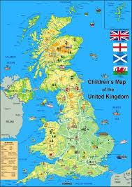 Map Of The United Kingdom Children U0027s Illustrated Map Of The United Kingdom Paper Laminated
