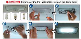 Lights For Car Interior How To Install The Led Panel Light For Car Interior Map Or Dome Lights