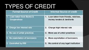 Formal Credit And Informal Credit money credit