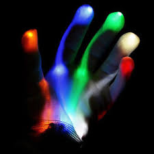 Light Up Gloves New Xbone L E D Gloves Rave Burning Wear Man Light Up Show Dj