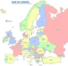 Europe Map Capitals by Map