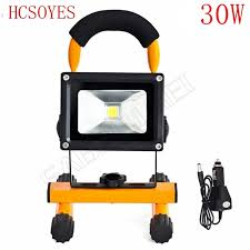 battery powered emergency lights 1pcs 30w led flood lighting rechargeable waterproof outdoor led