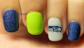 polishnv seattle seahawks super bowl manicure