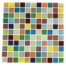 11 sq foot stick on backsplash fruit platter 1x1 glass tile