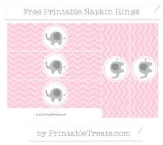 printable napkin rings free pink chevron elephant napkin rings elephant themed