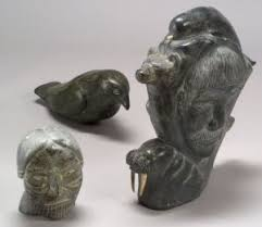 eskimo soapstone carvings search all lots skinner auctioneers