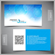 back business card modern business cards front and back template vector