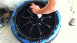 how to paint your car wheels black youtube