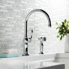 2 hole kitchen faucet k 99262 2bz cp sn kohler artifacts 2 hole kitchen sink faucet with